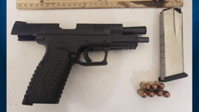 Jim Thorpe man detained after handgun spotted in his carry-on bag