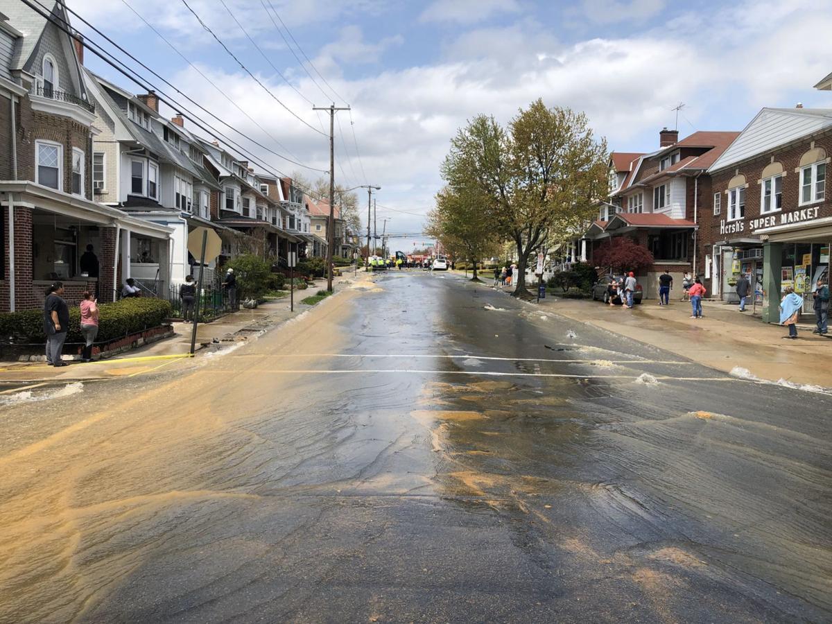 Water in Allentown street