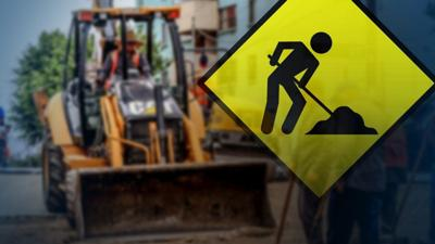 Road construction graphi