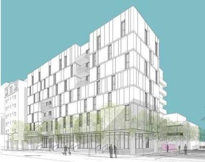 Rendering of Collins Park workforce housing development.