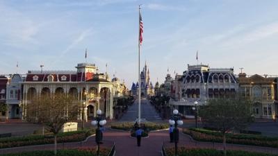 Flag ceremony at Walt Disney World Magic Kingdom