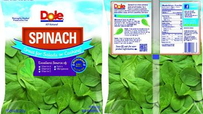 Dole recalls spinach sold in Pennsylvania, New Jersey