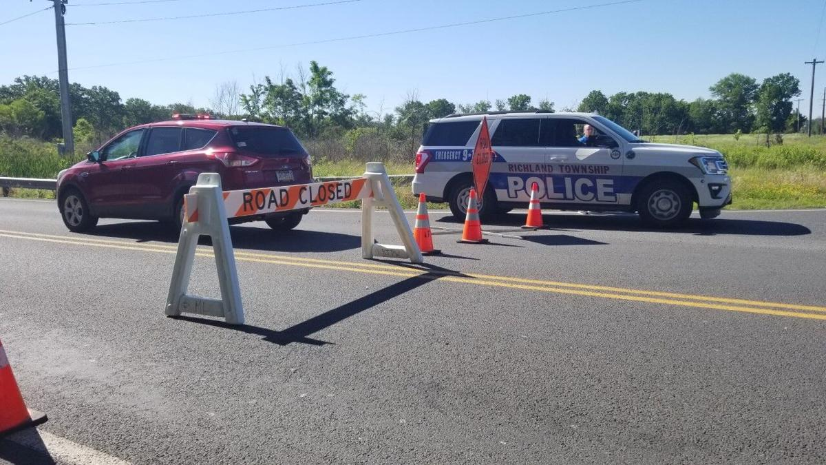 East Pumping Station Road Richland Township police scene
