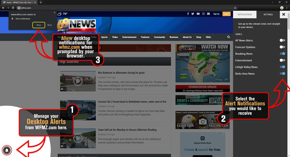 Desktop Alert Notifications Overview
