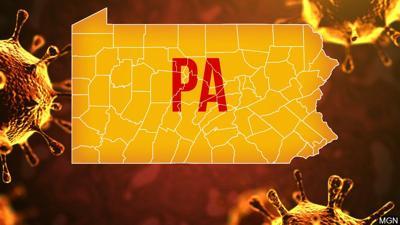 Pennsylvania coronavirus map generic graphic