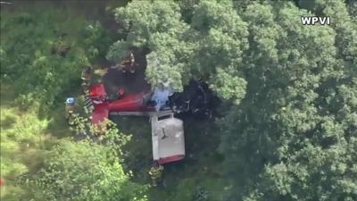 Small plane crash Buckingham Township near Doylestown Bucks County