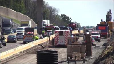 Injuries reported in 6-vehicle crash on Pa. Turnpike