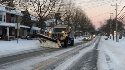 PennDOT snow plow on Penn Avenue in Wernersville