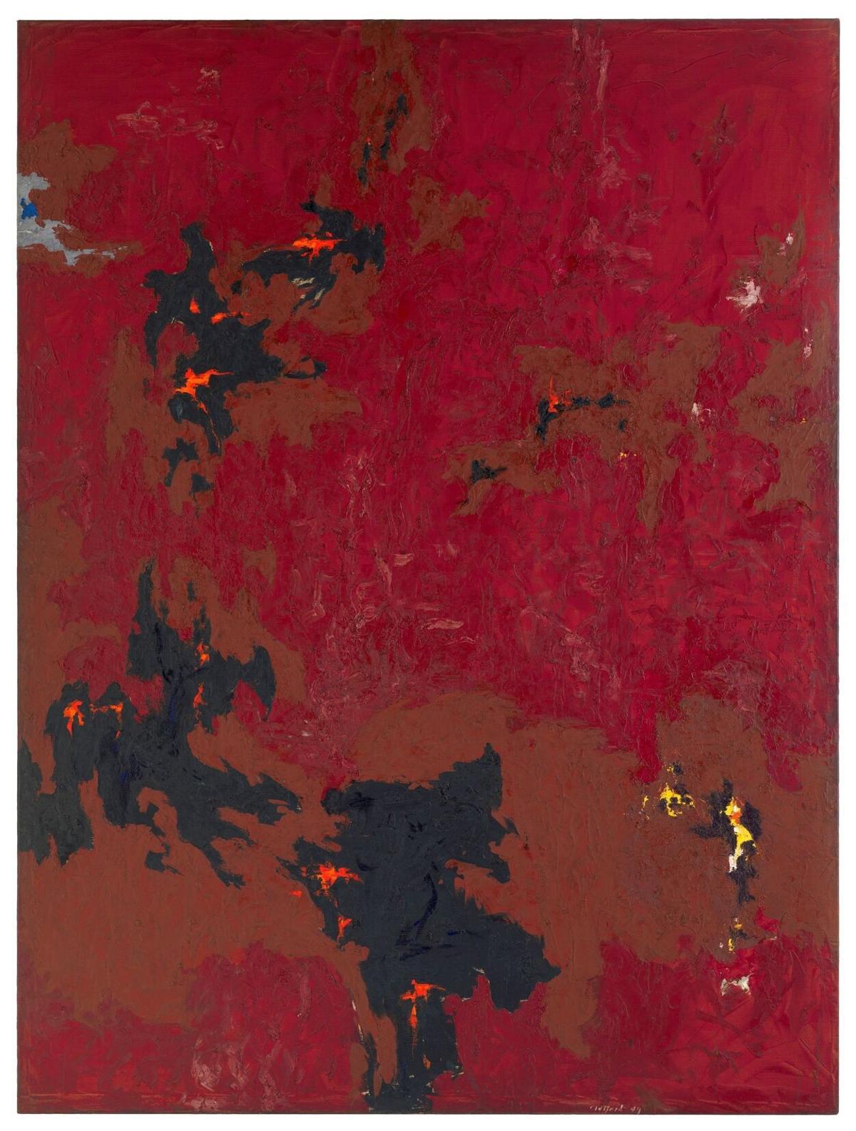 Clyfford Still (1904-1980), PH-338 (1949-No. 2), 1949, Oil on canvas, 91 3/4 x 68 7/8 in.
