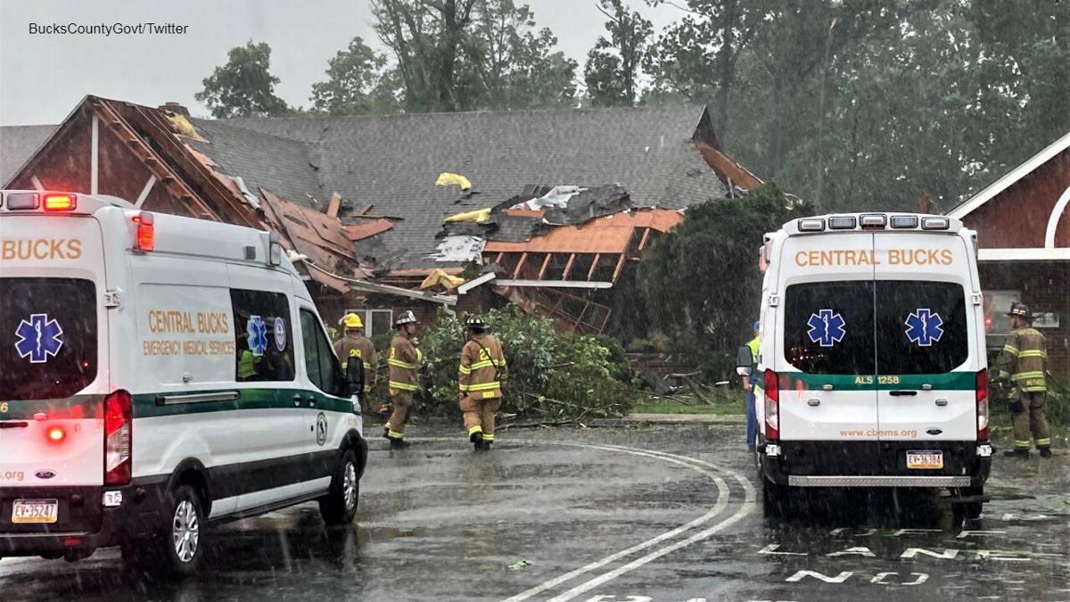 Children's Village daycare at Doylestown Hospital after storm