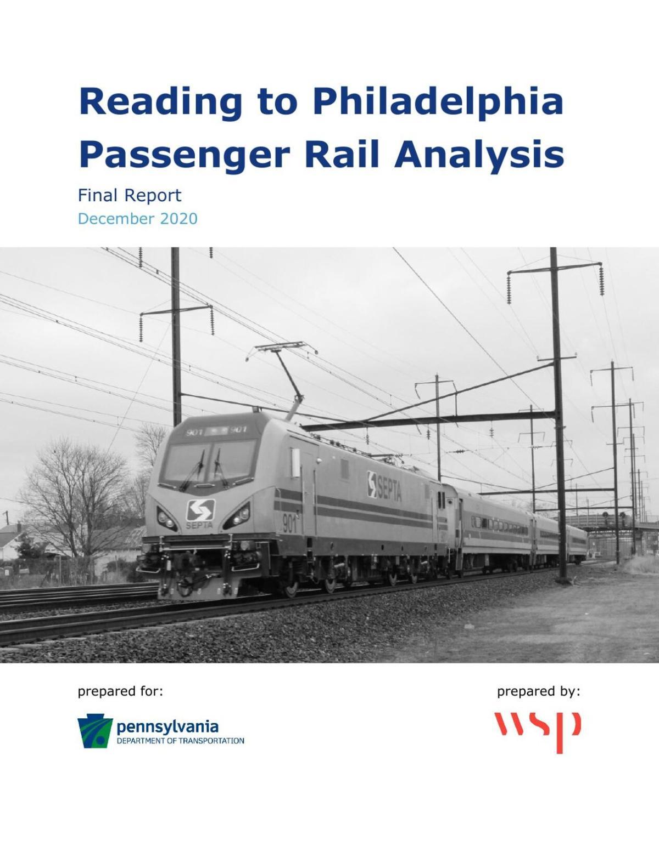 Reading to Philadelphia Passenger Rail Analysis