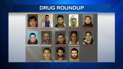 6 suspects arrested, 7 at large after round-up of suspected drug traffickers in Berks