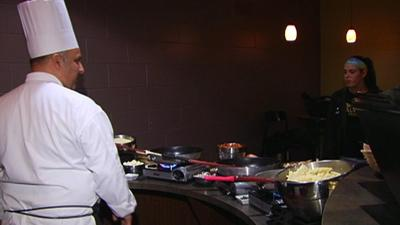 Alvernia students try new foods at Chef's Table