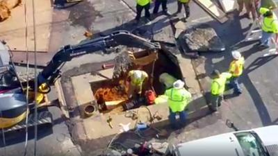 Sinkhole closes stretch of Chew Street in Allentown
