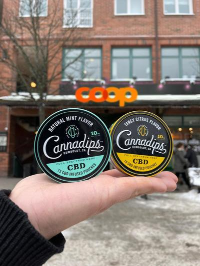 Cannadips CBD pouches now available in 59 COOP retail stores and online in Switzerland.