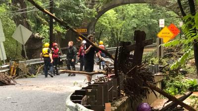 Pregnant woman, son, 9, found dead in rain-swollen creek