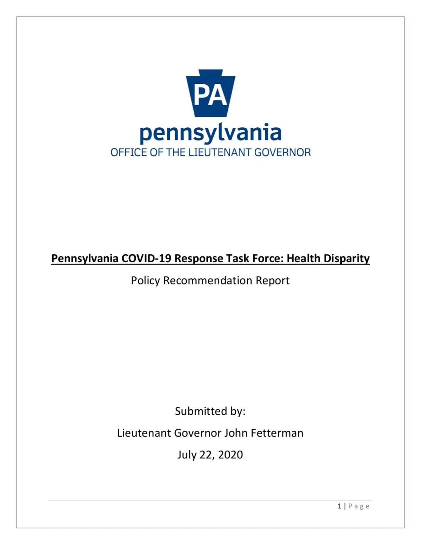 READ: Pa. COVID-19 health disparity report