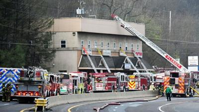 Fire on Route 61 in Pottsville