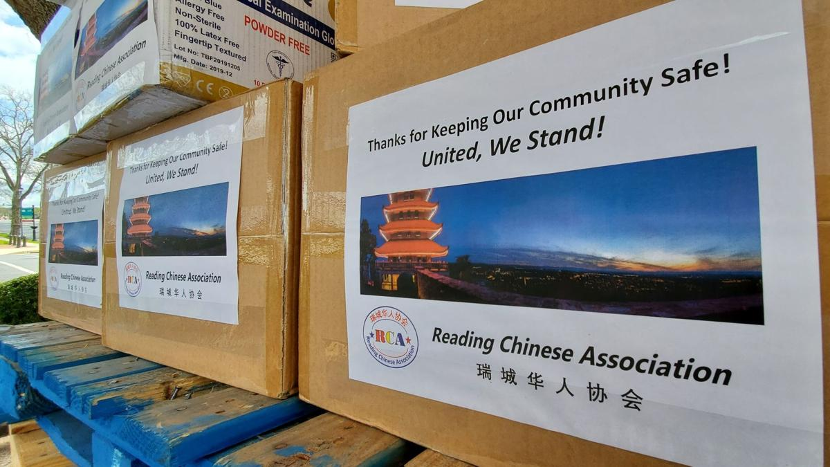 Reading Chinese Association PPE donation to Reading Hospital