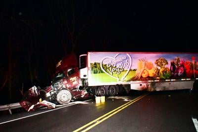 Truck on Route 309 crash