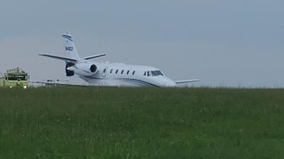 Plane goes off runway at Reading Regional Airport