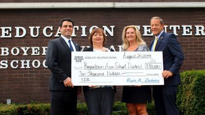Donation to help Boyertown's Teachers in the Park program
