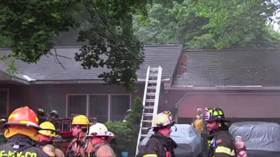 At least 1 pet rescued after fire heavily damages Lower Saucon Township home