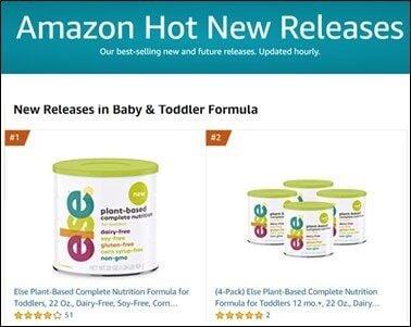 Amazon Best Seller (CNW Group/Else Nutrition Holdings Inc.)