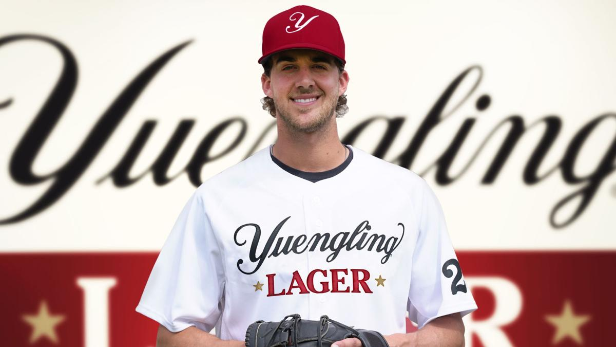 Philadelphia Phillies Aaron Nola in Yuengling Lager uniform