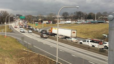 Crash on West Shore Bypass in West Reading