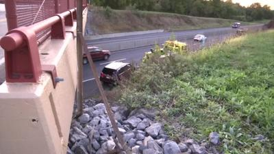 Vehicle crashes over embankment in Lower Macungie Township