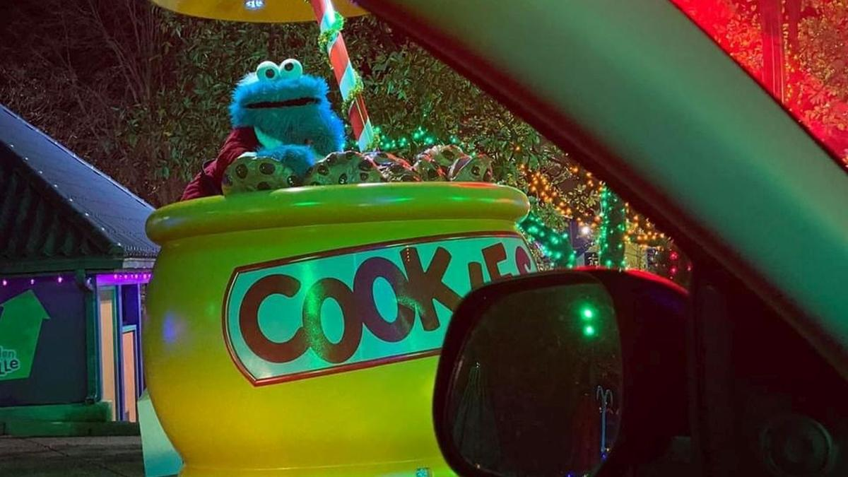 Sesame Place Christmas drive-thru