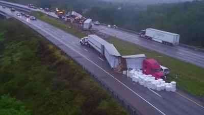 Serious tractor-trailer crash closes I-78 near Hellertown