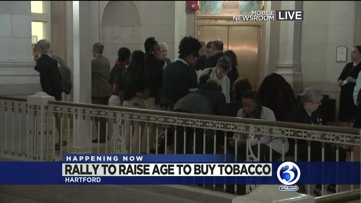 VIDEO: Rally, hearing held for raising age of purchasing tobacco in Hartford