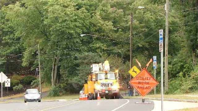 Two crashes cause power outages in Manchester