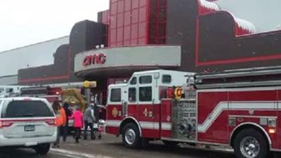 Pipe bursts at Plainville movie theater for 2nd time