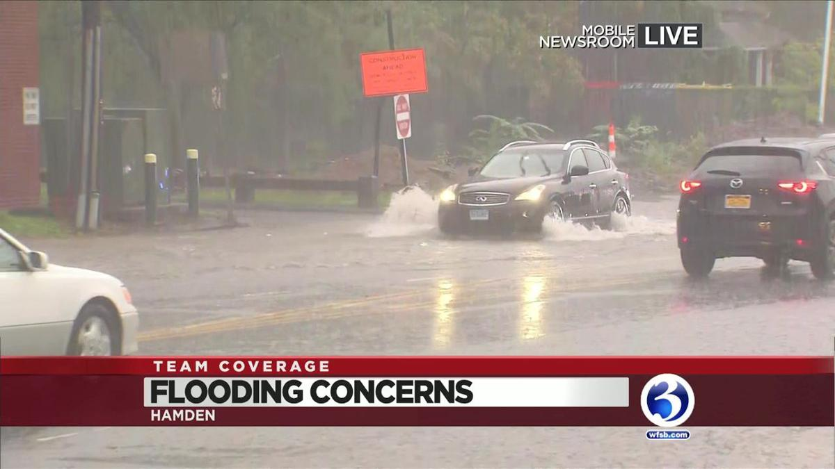 VIDEO: Flooding reported on Hamden Roads
