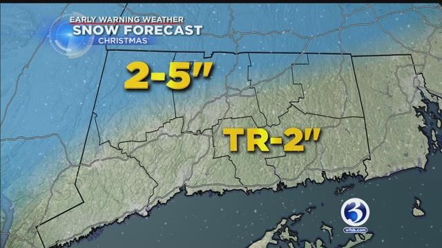Most of the state is gearing up for a white Christmas