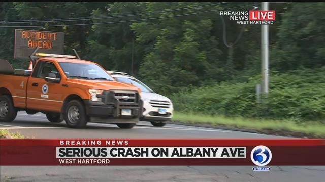 VIDEO: Route 44 in West Hartford partially reopens following crash
