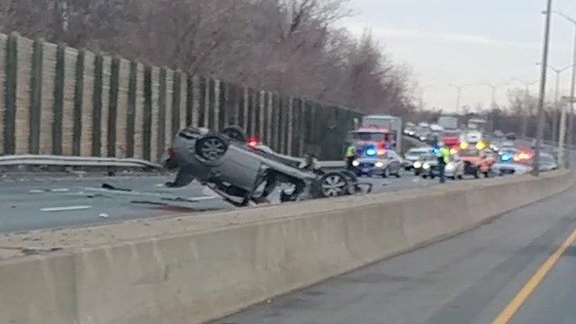 Serious injuries reported in Enfield I-91 south crash