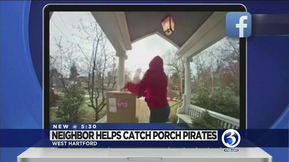 VIDEO: West Hartford neighbor helps police catch package thefts