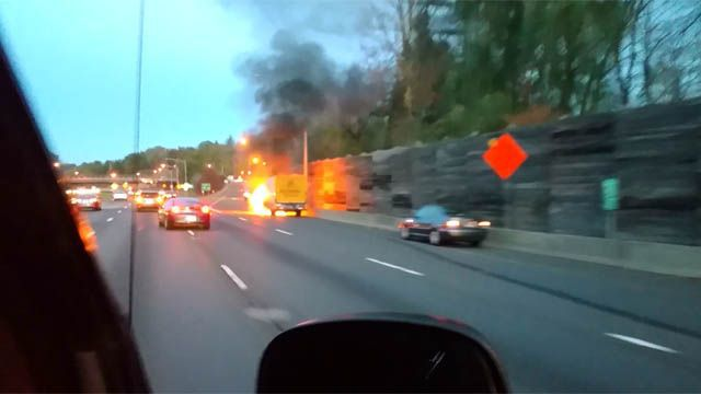 Truck fire caused heavy delays on I-84 east in West Hartford