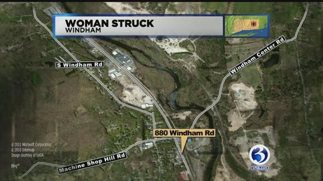 Woman suffers life-threatening injuries after being struck by motor vehicle in Windham