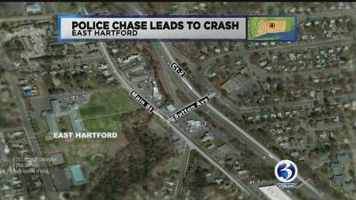 Police chase leads to crash in East Hartford