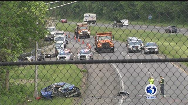 Video: Deadly wrong-way crash closes I-691 in Meriden for hours