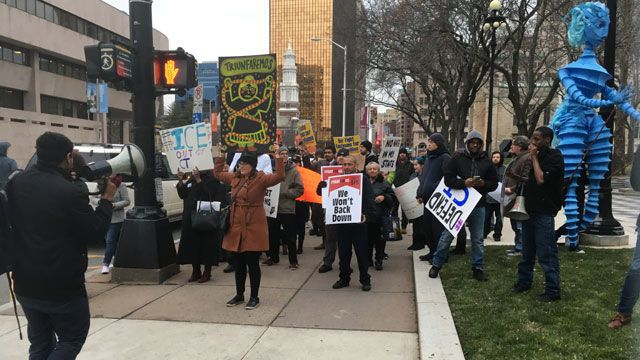Inauguration Day protests held in New Haven, Hartford