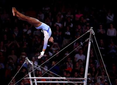 Simone Biles stuns fans and crushes 2 more records at the world gymnastics championships. And it's not over