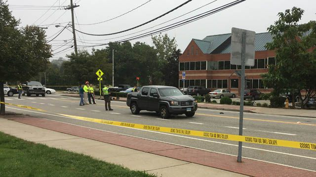 Manchester road reopens after woman struck by vehicle