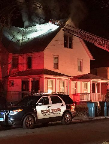 2 families displaced following overnight house fire in Manchester