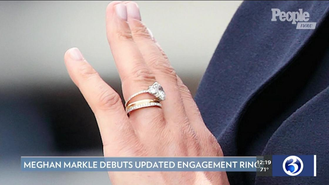Meghan Markle Wedding Ring.People Now Meghan Markle Debuts Updated Engagement Ring